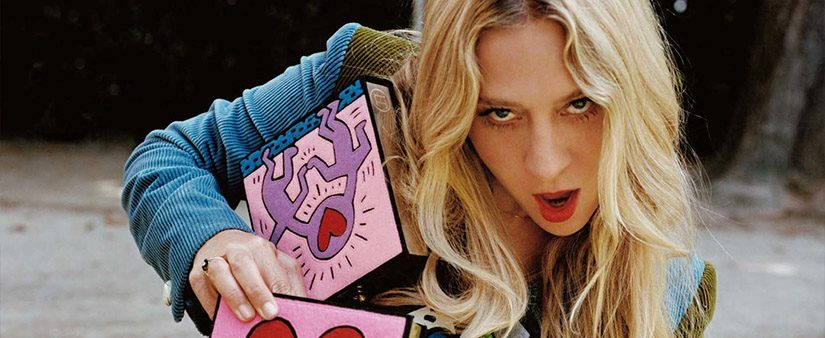 Chloë Sevigny graces Olympia Le-Tan x Keith Haring print ad